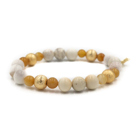 Blossom Bracelet, Zebra Jasper and Yellow Jade