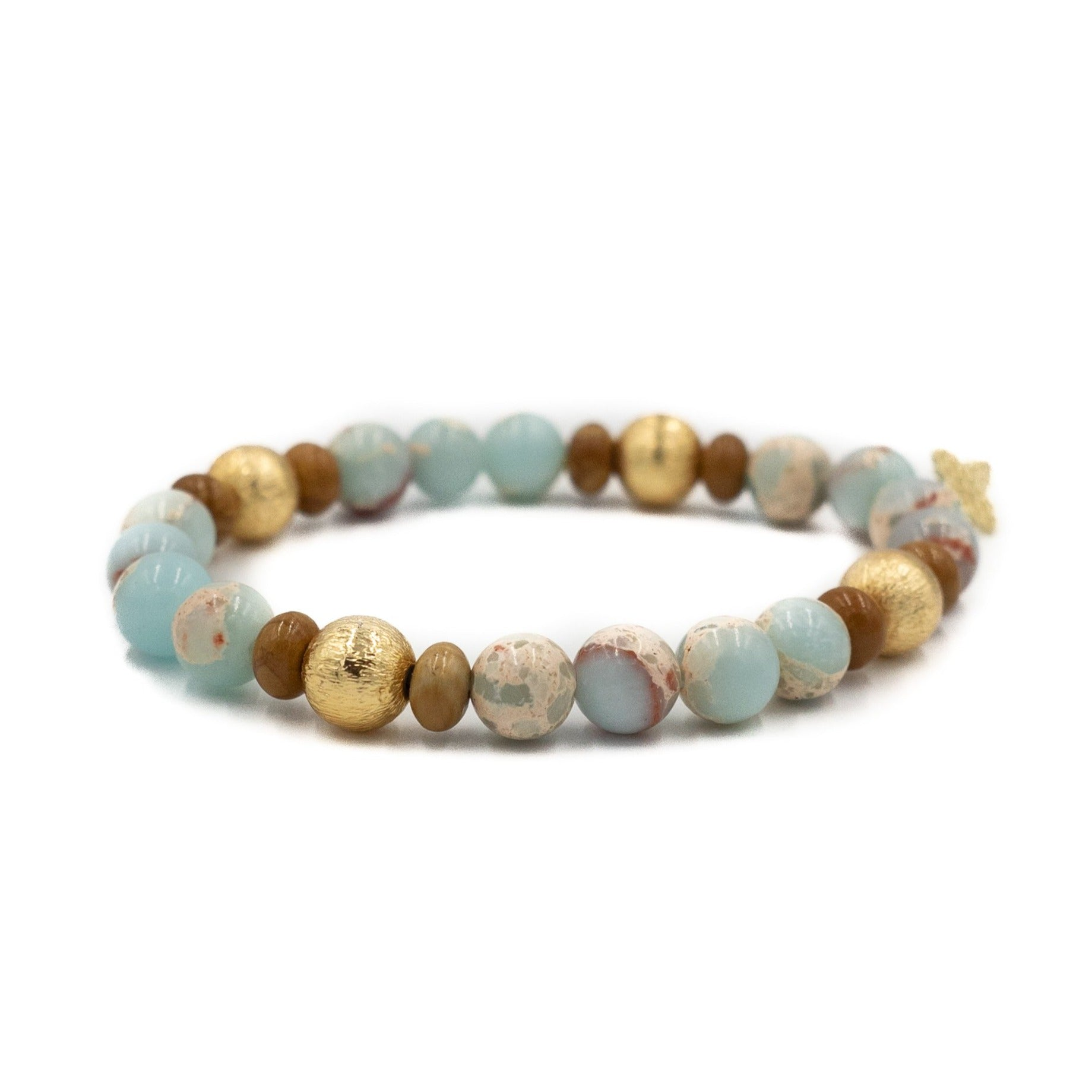 Blossom Bracelet, Aquaterra and Brown
