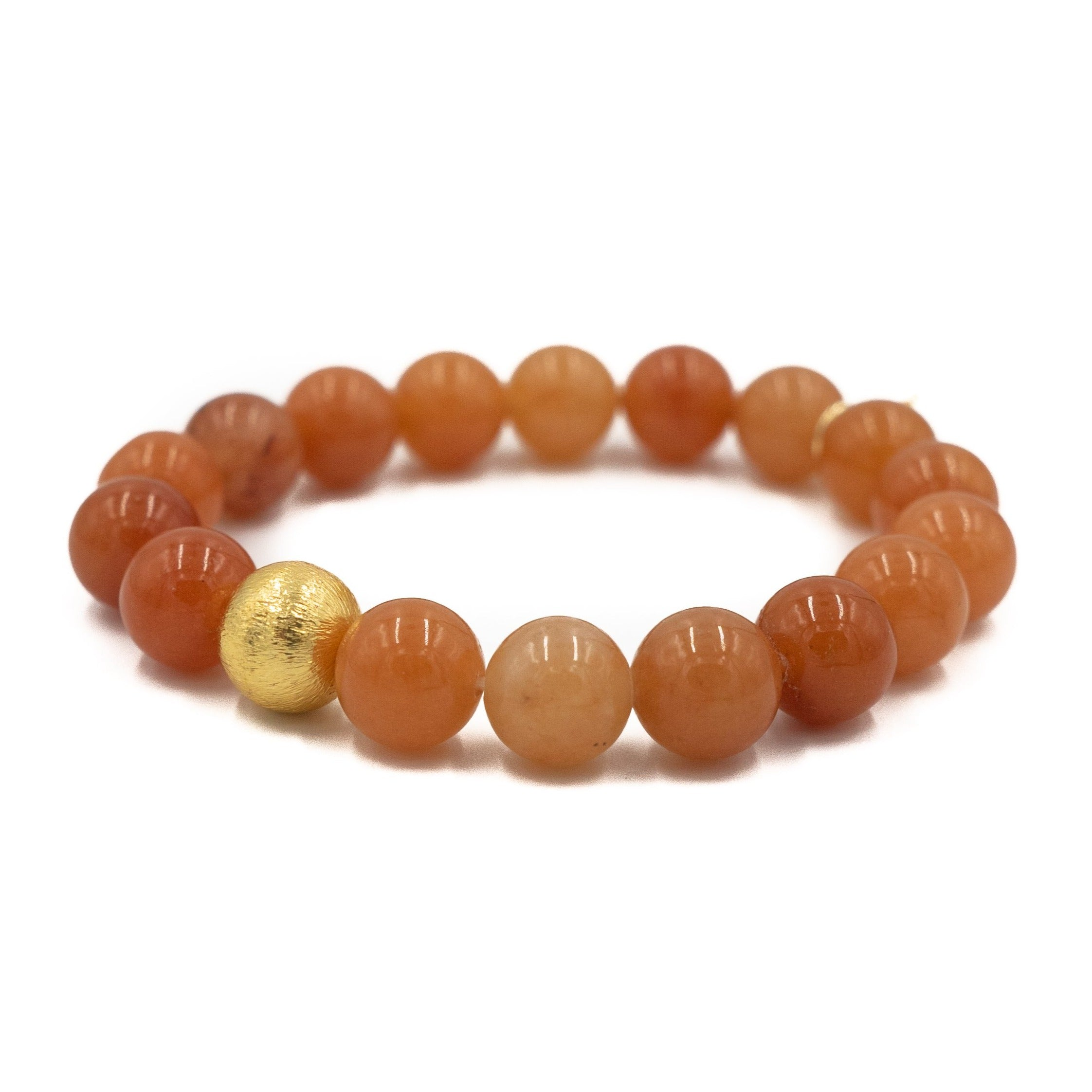 Brooke Bracelet, Orange Aventurine