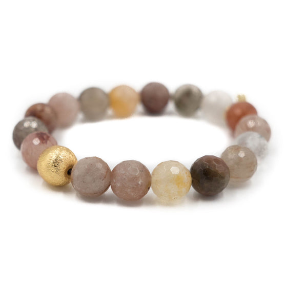 Brooke Bracelet, Peach Moonstone