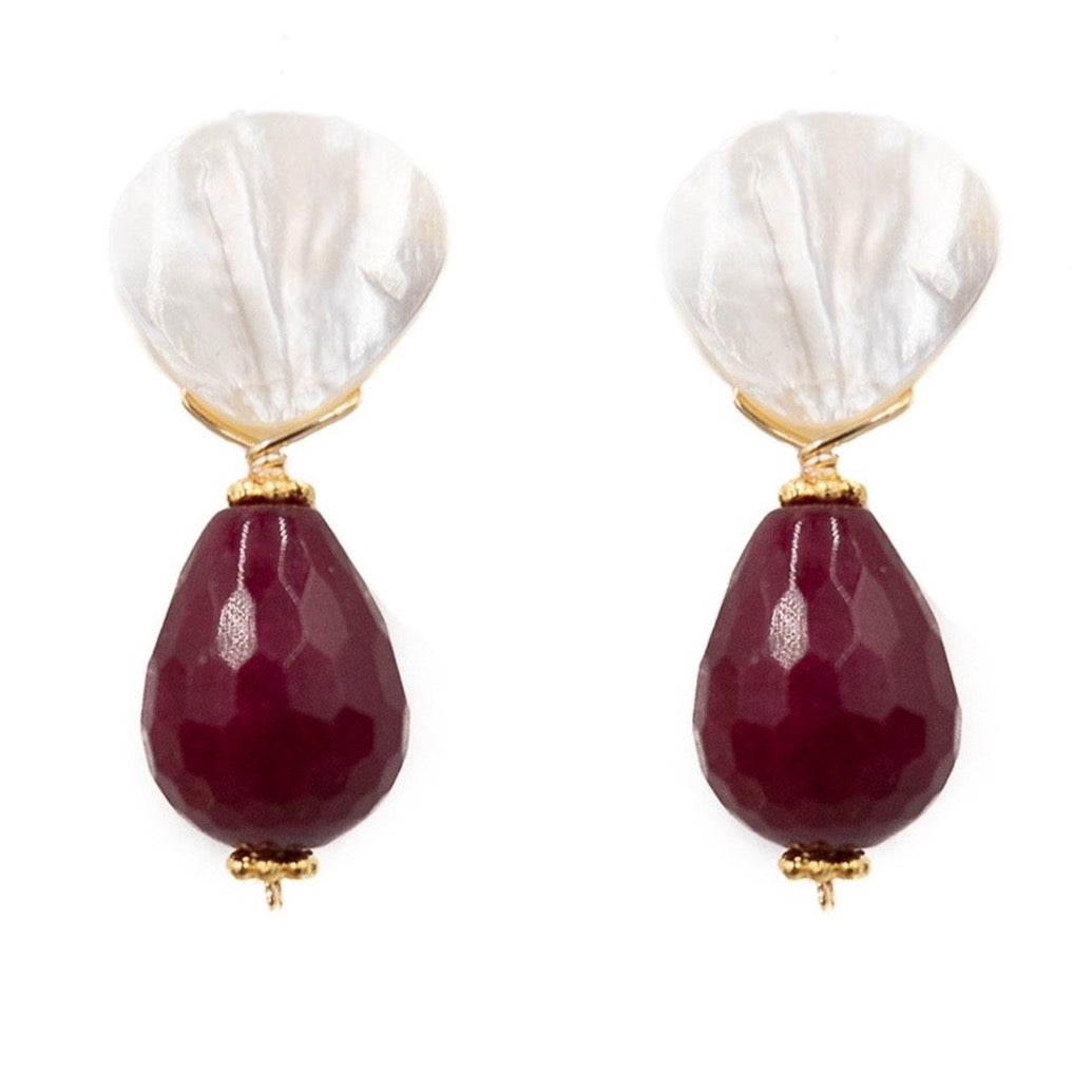 Claire Earring, Mulberry