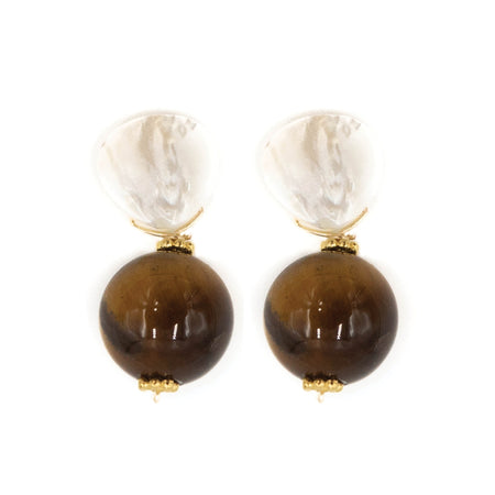 Claire Earring, Tiger Eye