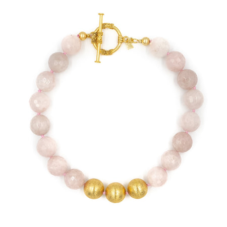 Collier Necklace, Rose Quartz