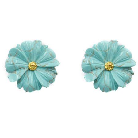 Daisy Earring, Turquoise