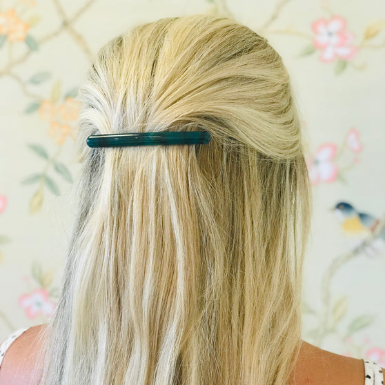 Deep Teal Barrette