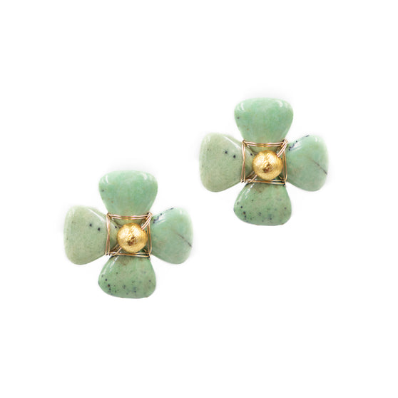 Flora Earring, Green