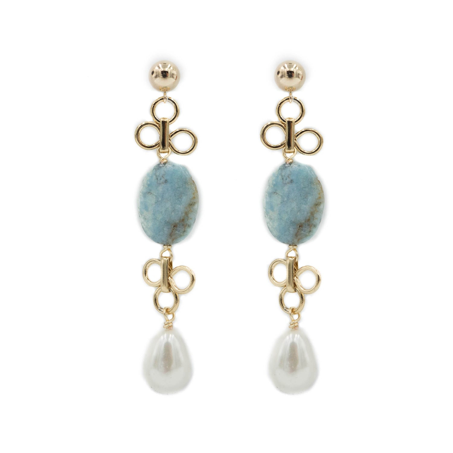 Caitlin Earring, Turquoise