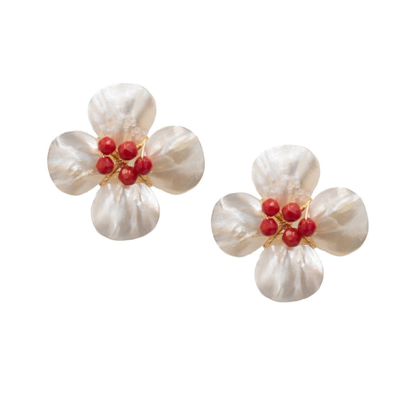 Poppy Earring, Red