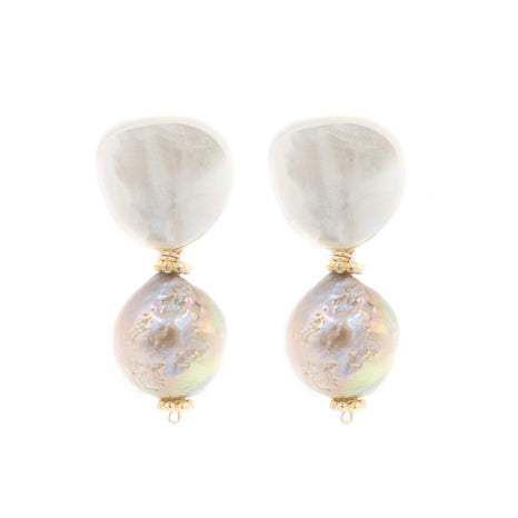 Claire Earring, Rose Baroque