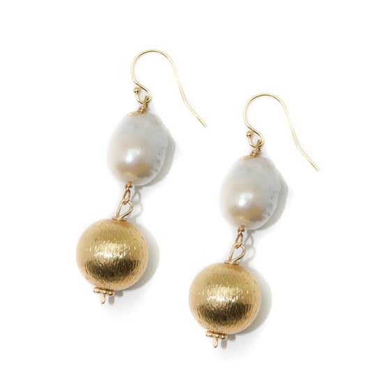 Dee Earring, Double Baroque and Gold