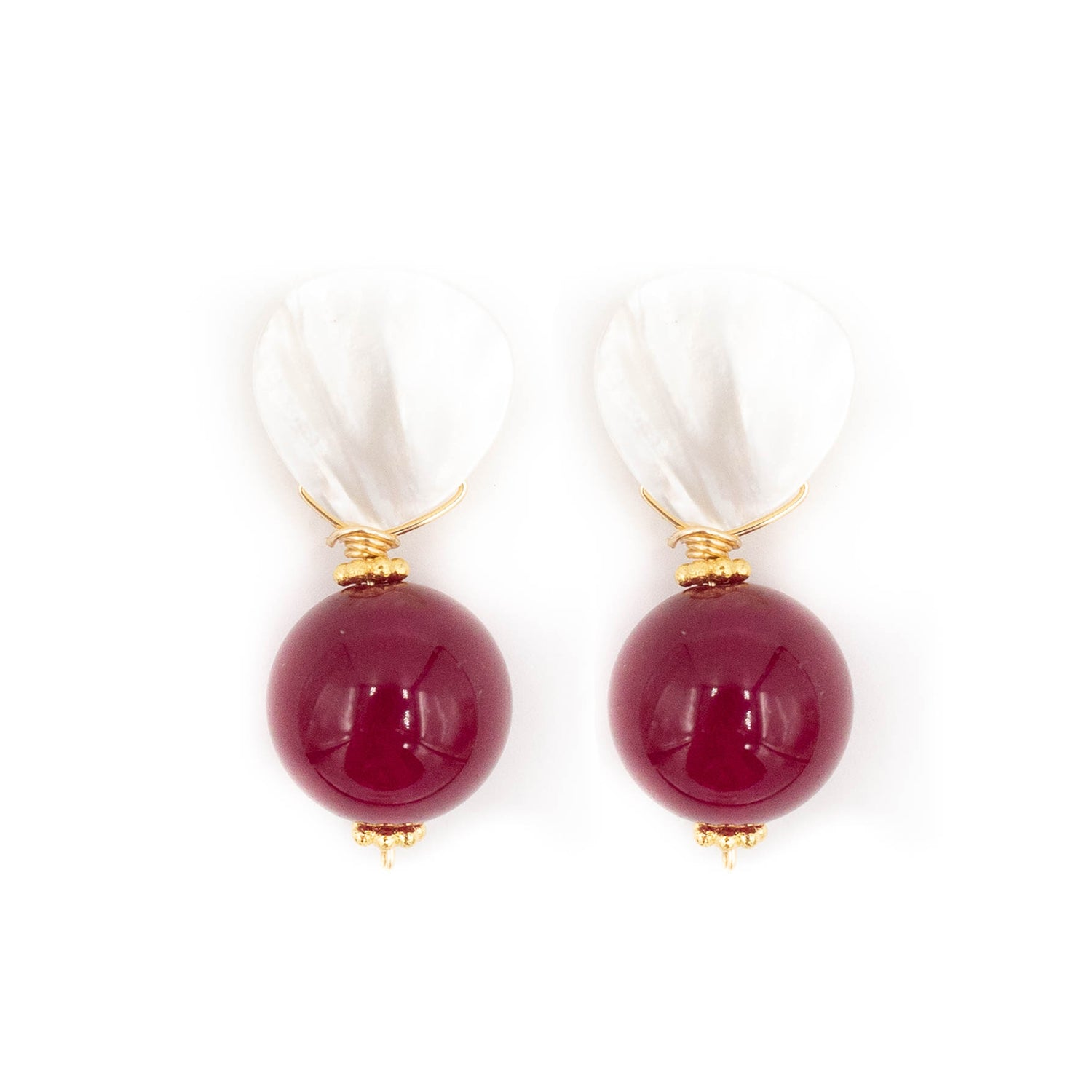 Claire Earring, Merlot