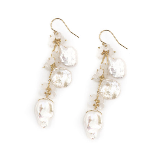 Elizabeth Earring, Triple White