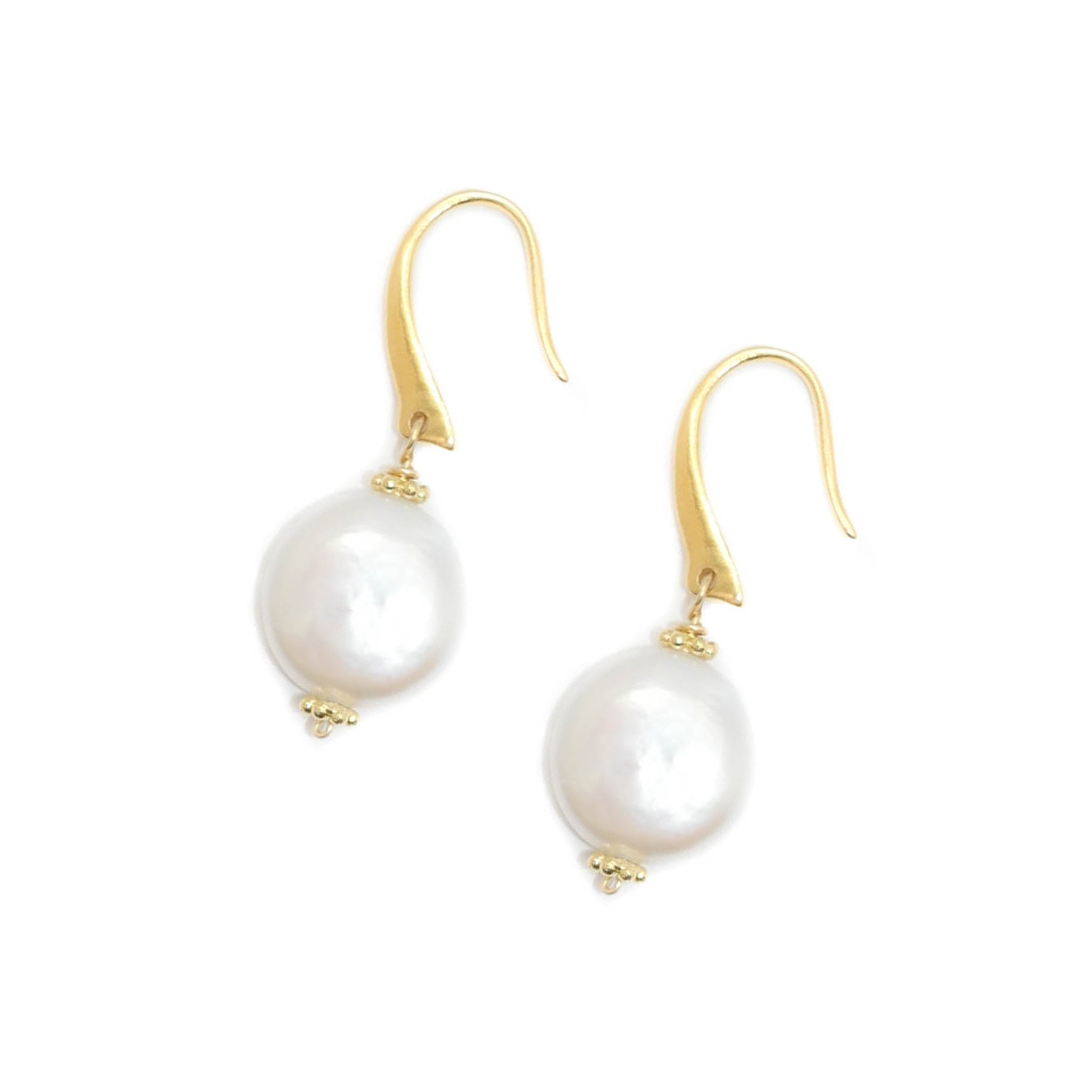 Hampton Earrings, Pearl