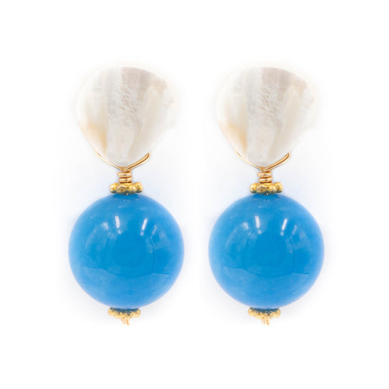 Claire Earring, Light Blue