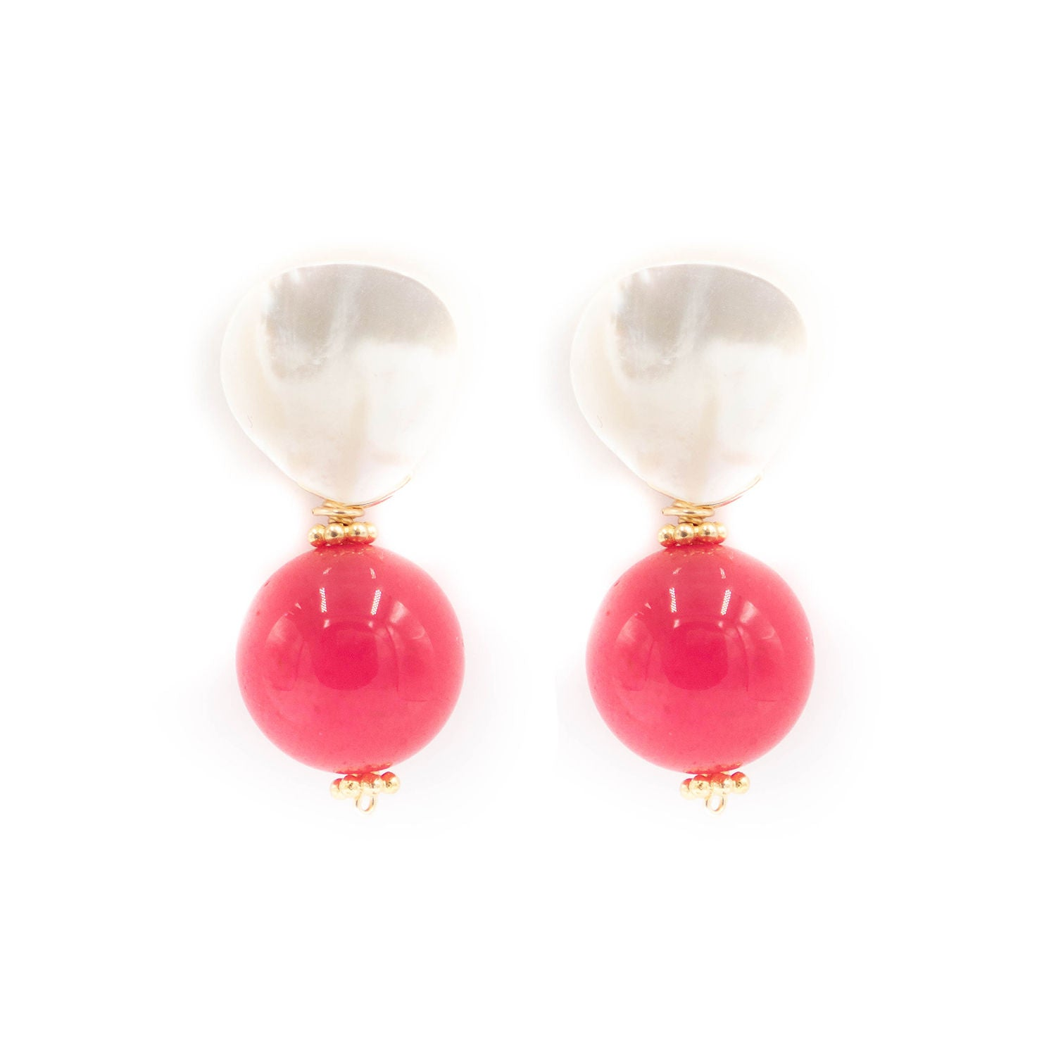 Claire Earring, Hot Pink