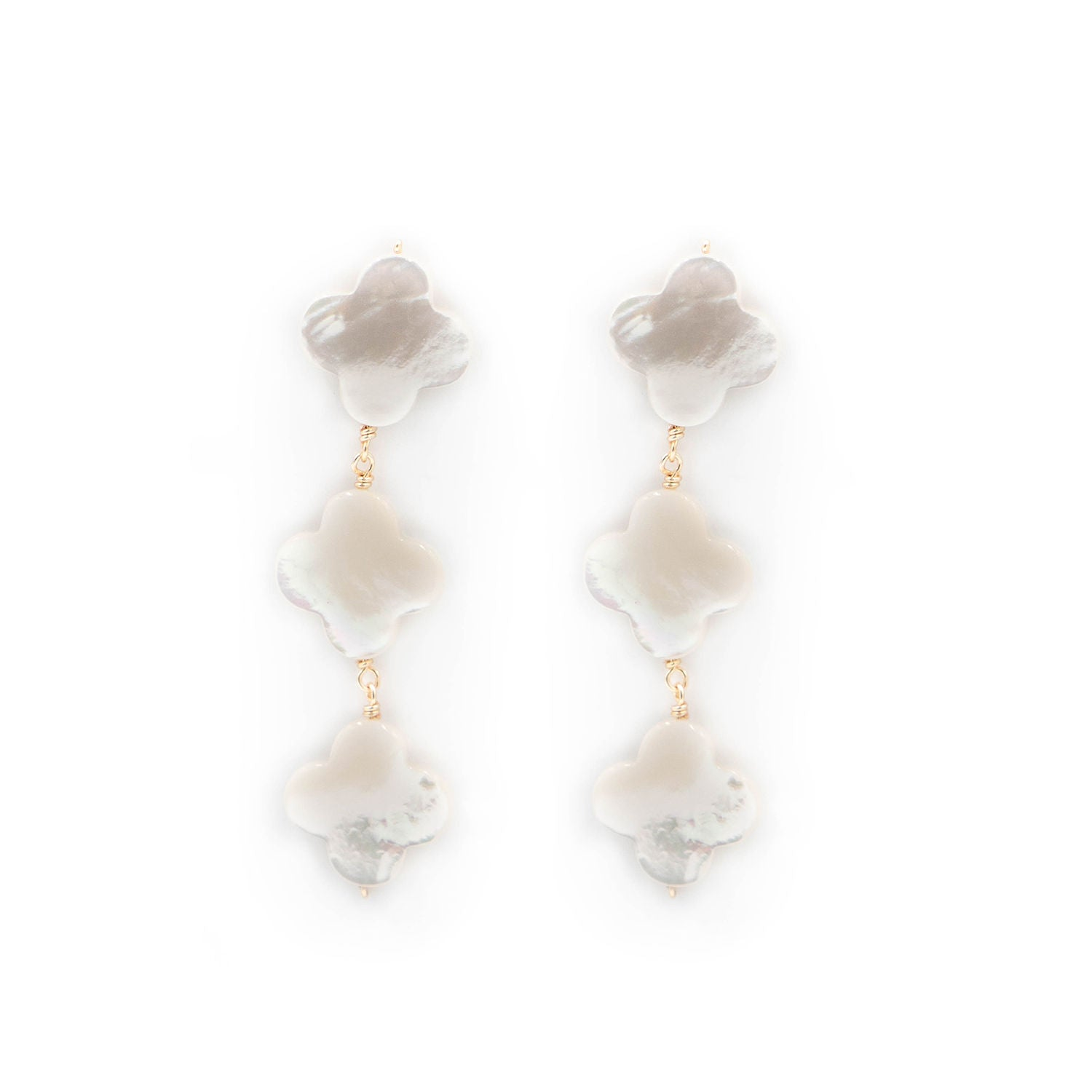 Crawford Earring, White