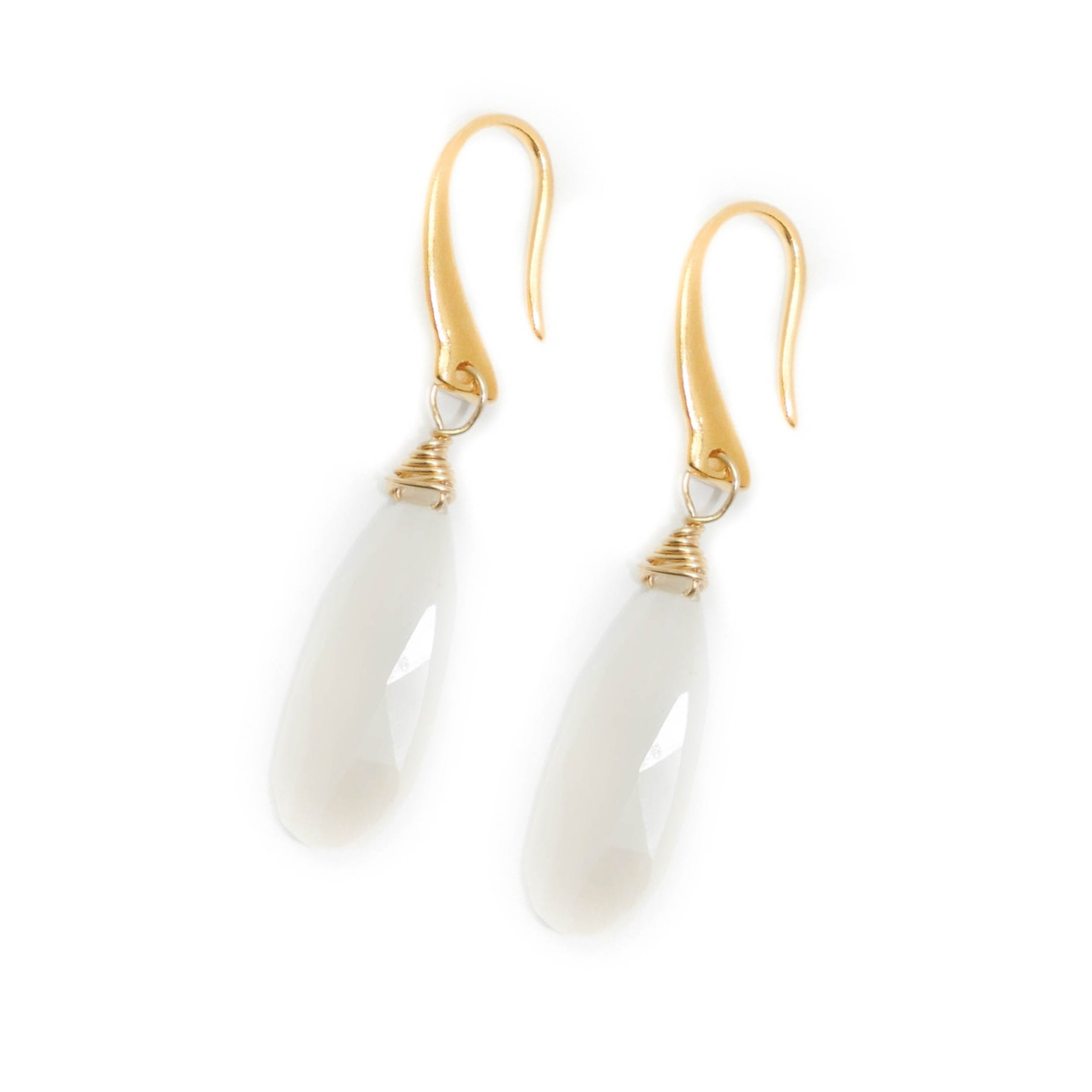 Amherst Earrings, Moonstone
