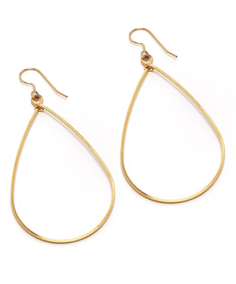 Sara Earring, Large Gold