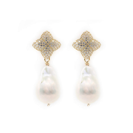 Alicia Earring Charms, Baroque Pearl, Gold