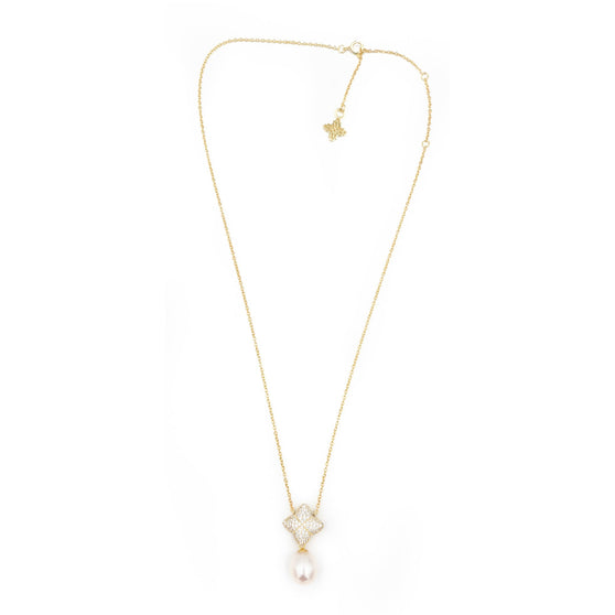 Alicia Set, Gold with Freshwater Pearl Charm