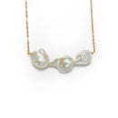 Lamar Necklace, White Baroque