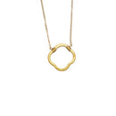 Clover Necklace, Gold