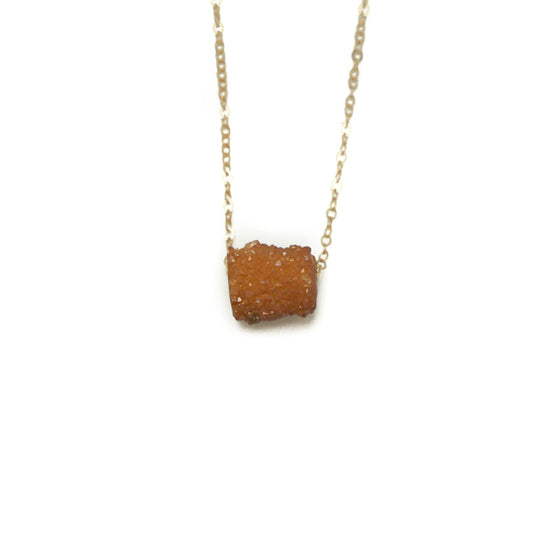 Ike Necklace, Rust Druzy