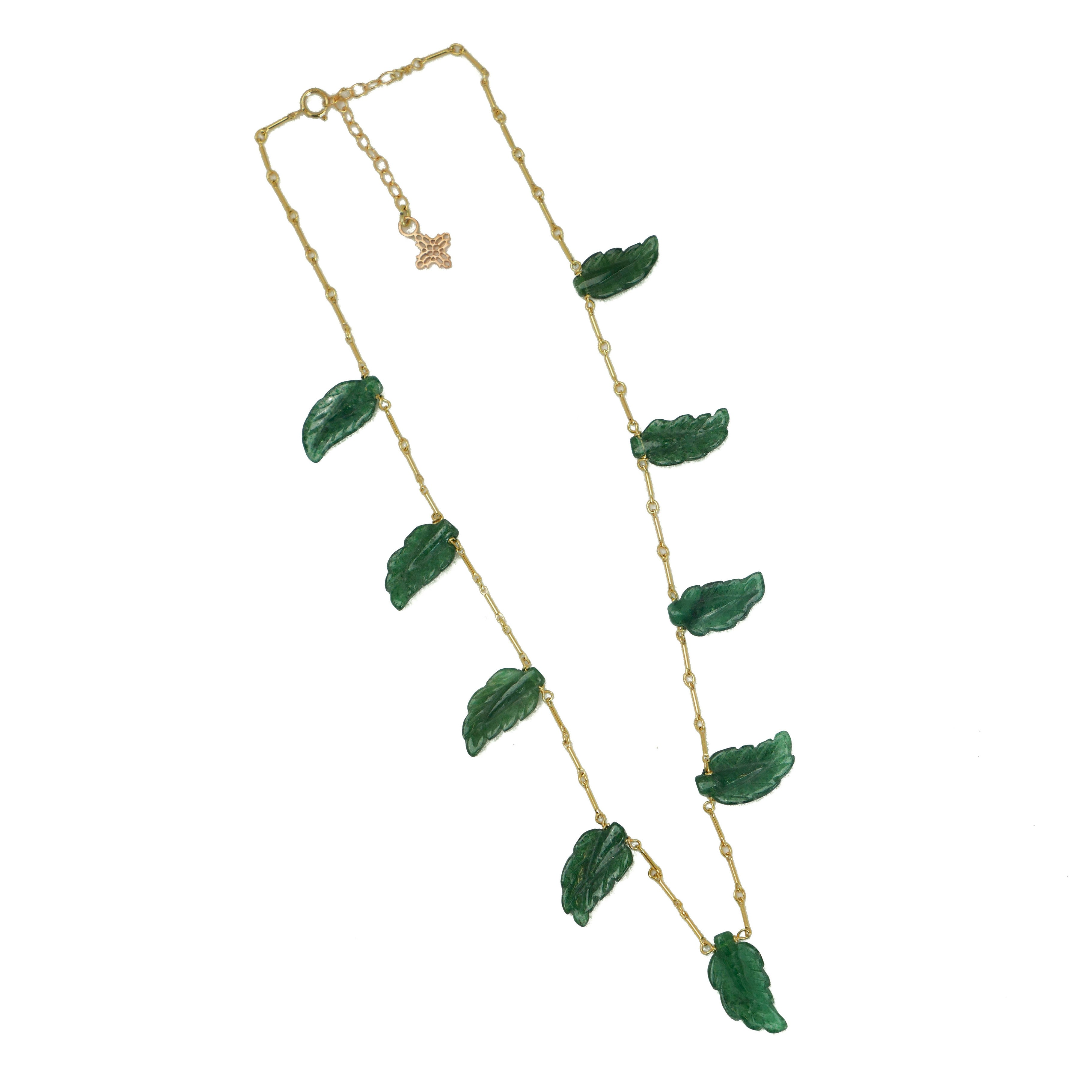 Miriam Necklace, Green Palm