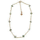 Miriam Necklace, Green Amethyst