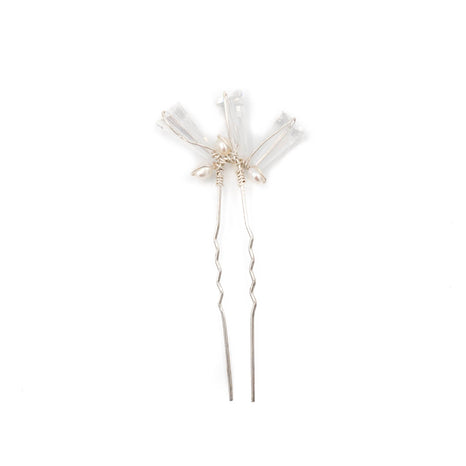 Hartley Hair Pin Set, Silver