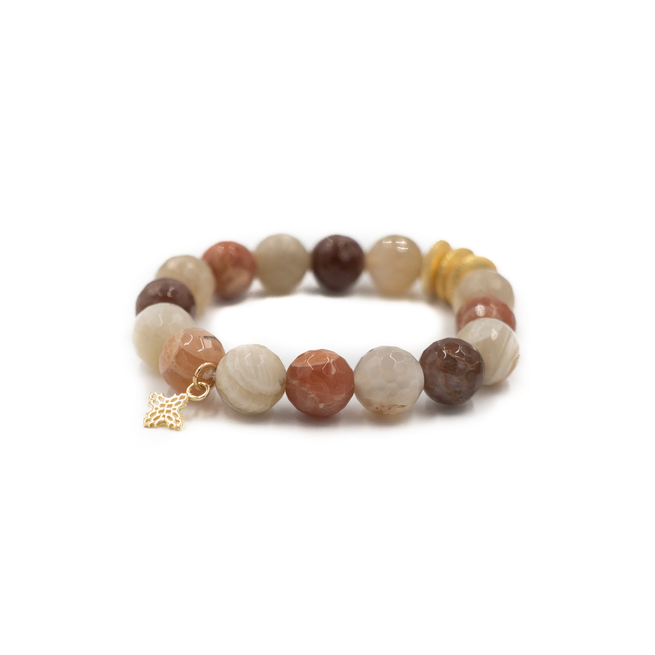 Sheldon Bracelet, Peach Moonstone