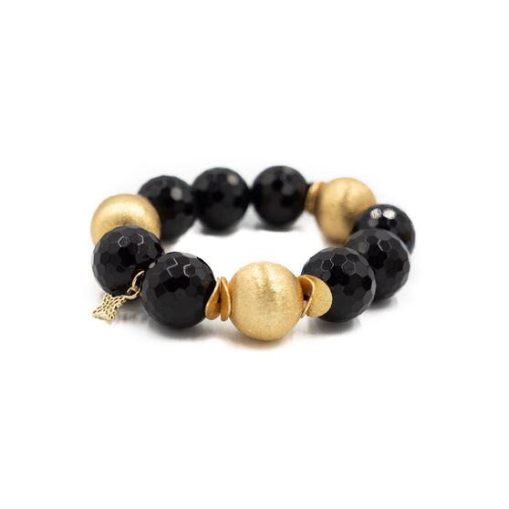 Addison Bracelet, Faceted Black Onyx