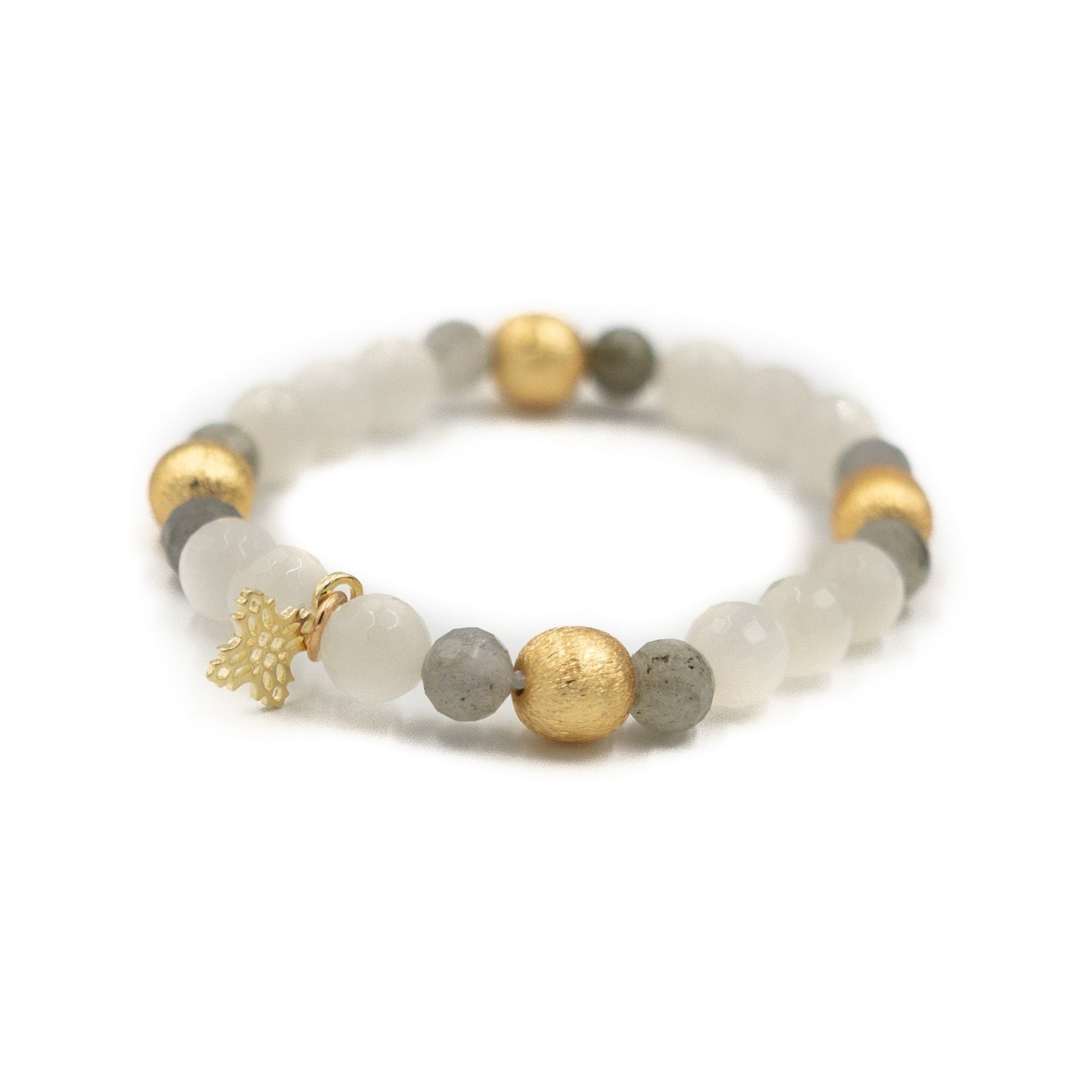 Blossom Bracelet, Moonstone and Labradorite