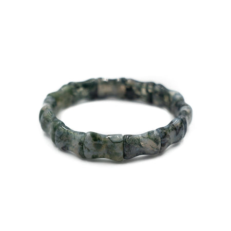 Bamboo Bangle, Green Aventurine