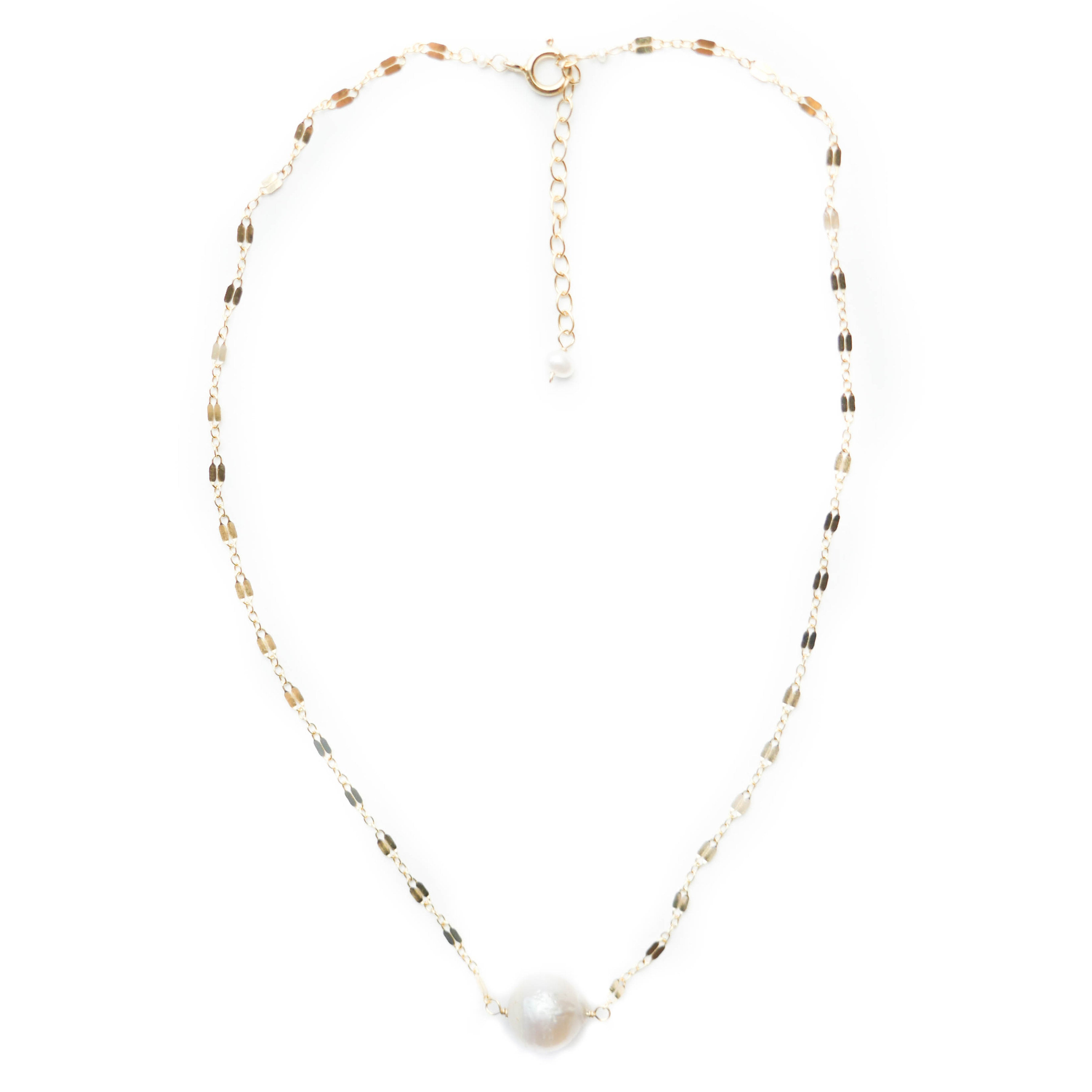 Madeline Necklace, White Pearl