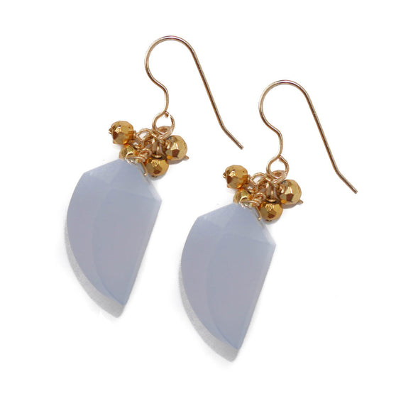 Denise Earring, Lace Agate