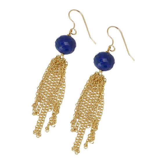 Morgan Earring, Lapis
