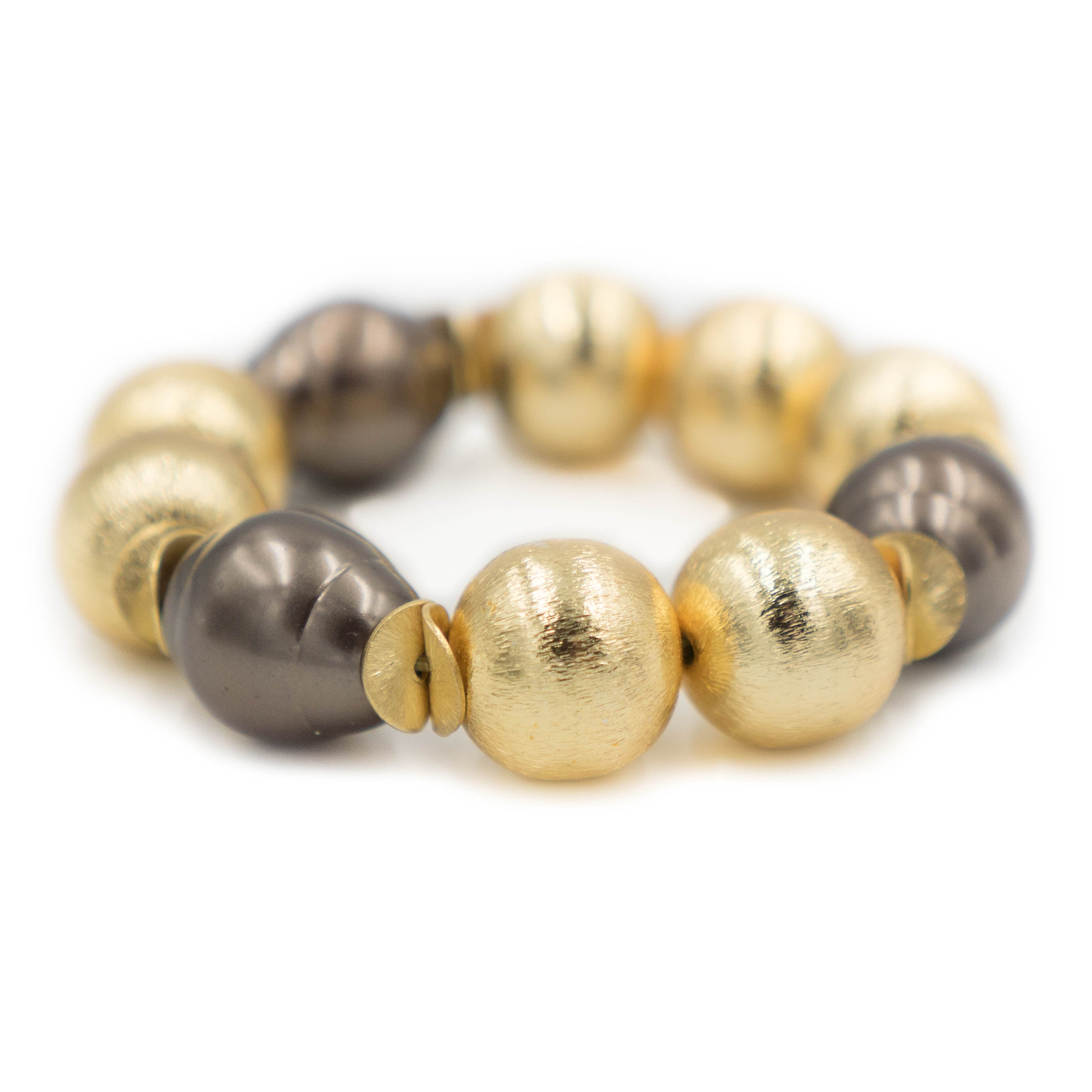 Madison Bracelet, Brown Pearl