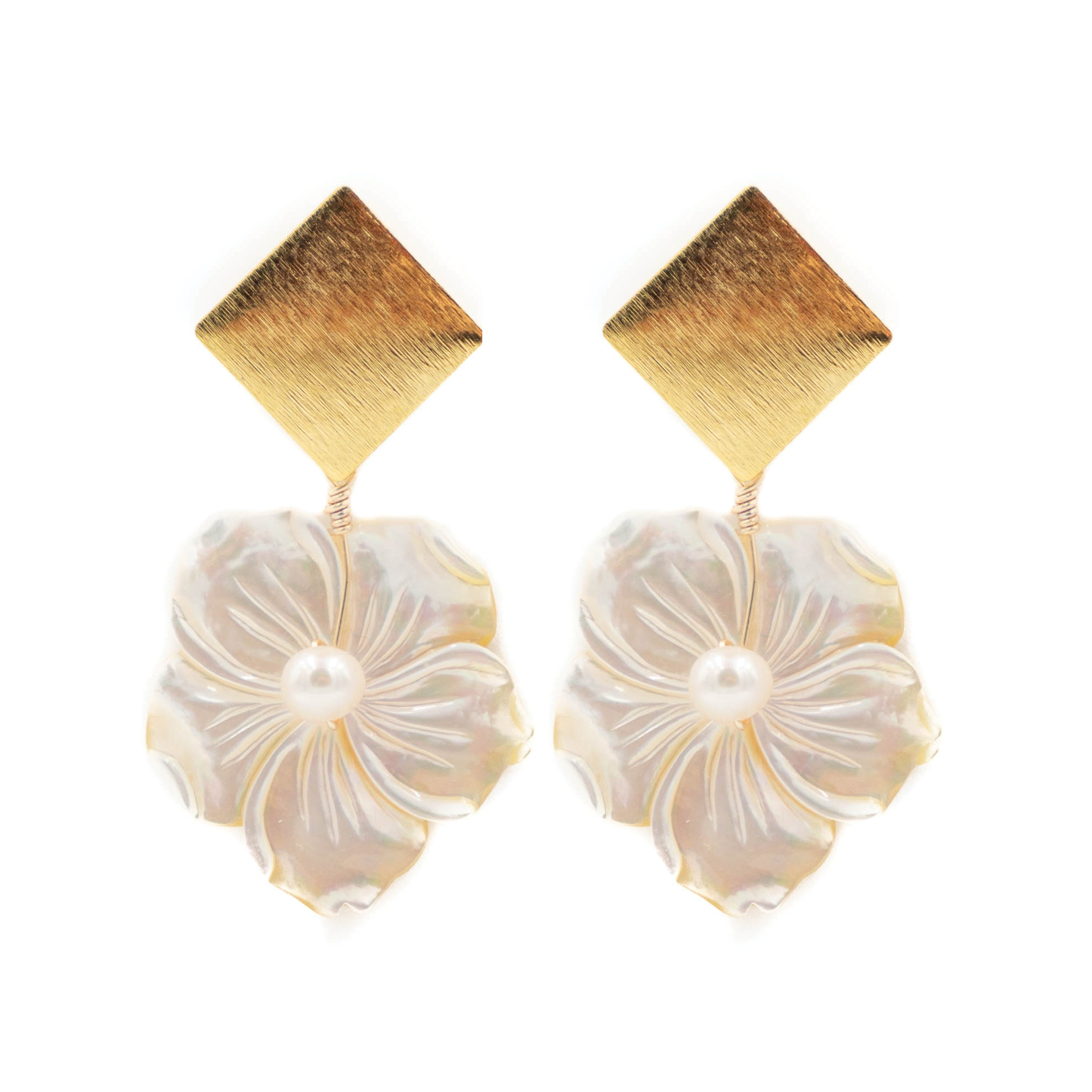 Darby Earring, Flower