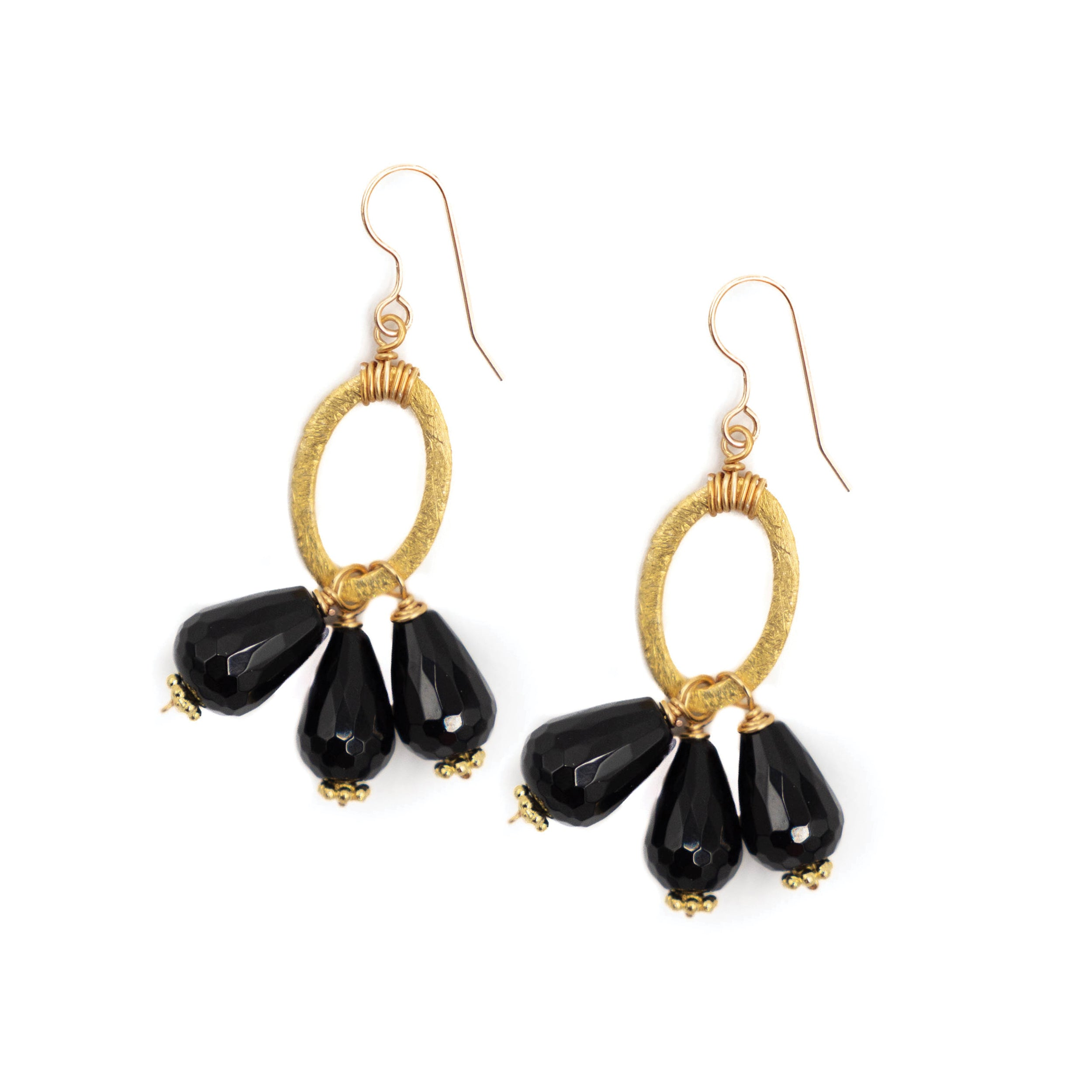 Amesbury Earring, Black Onyx, Small