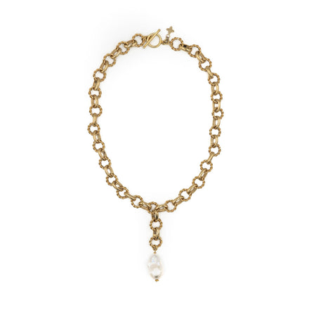 Holly Necklace, White Pearl