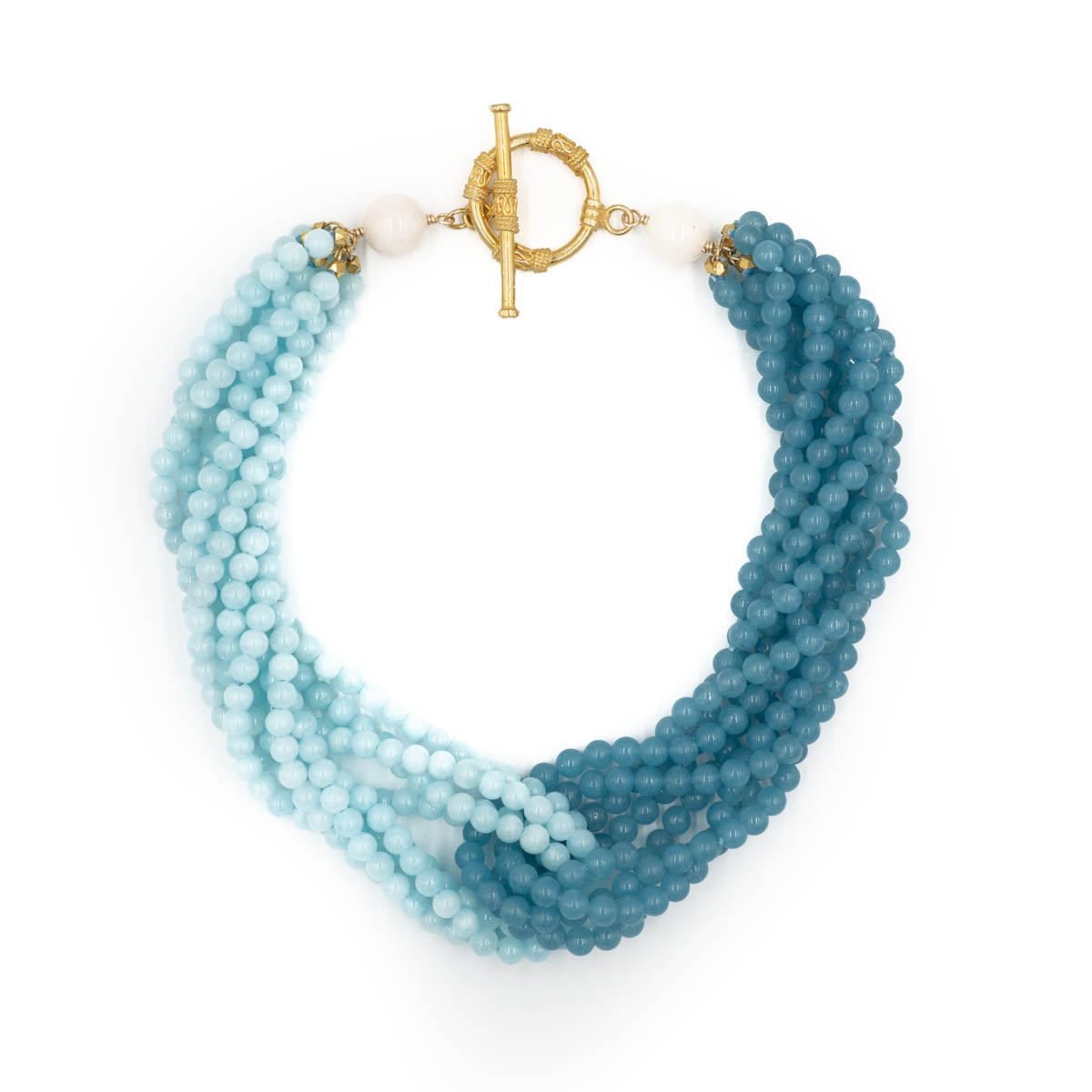Maggie Necklace, Ocean and Light Blue