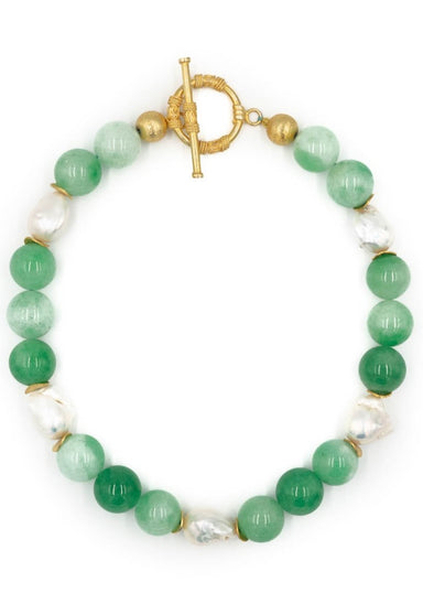 Annabelle Necklace, Green Jade