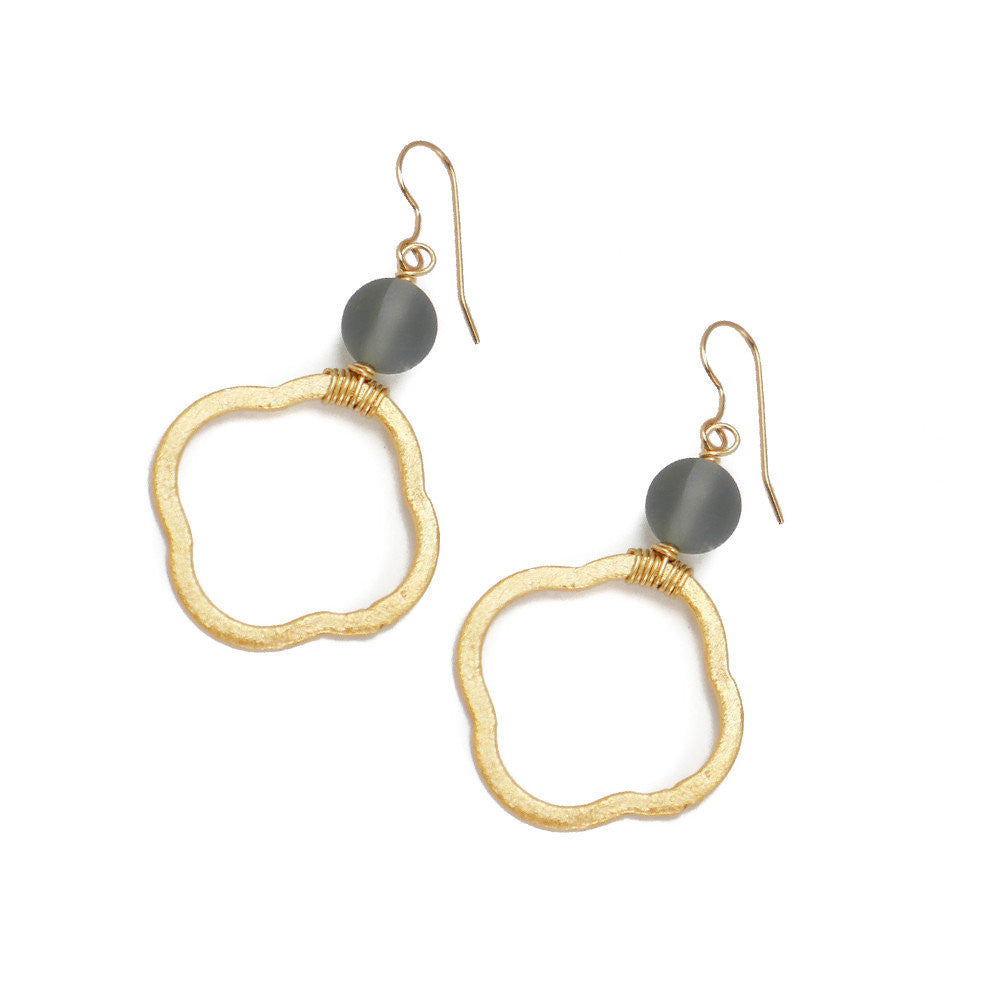 Hannah Earring, Gray Glass