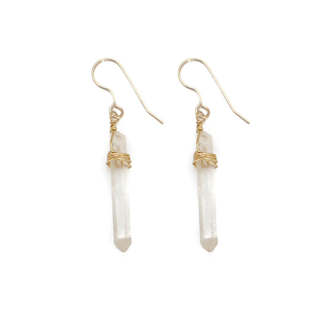 Trisha Earring, Clear Quartz