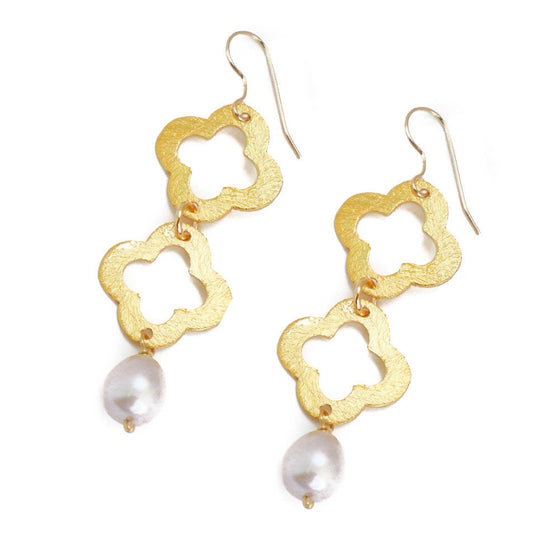 June Earring, Rose Pearl