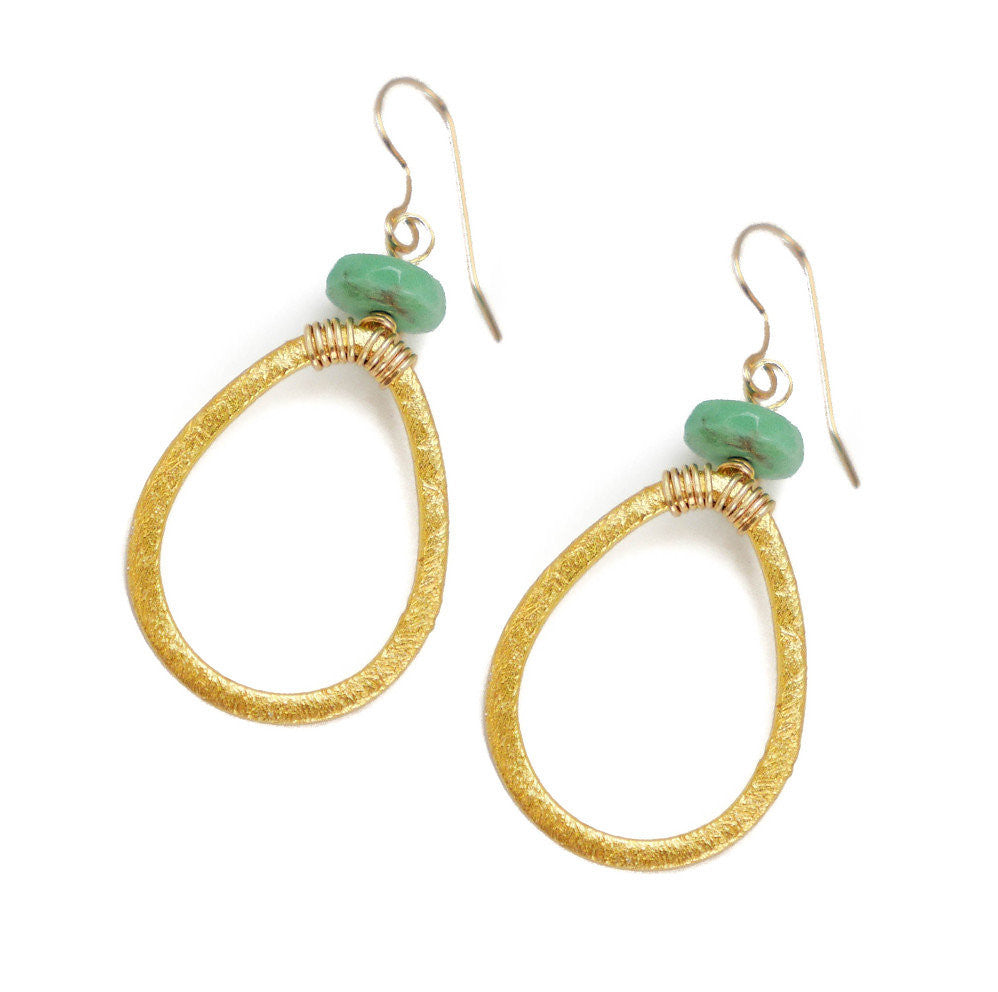 Lyssa Earring, Chrysoprase, Small
