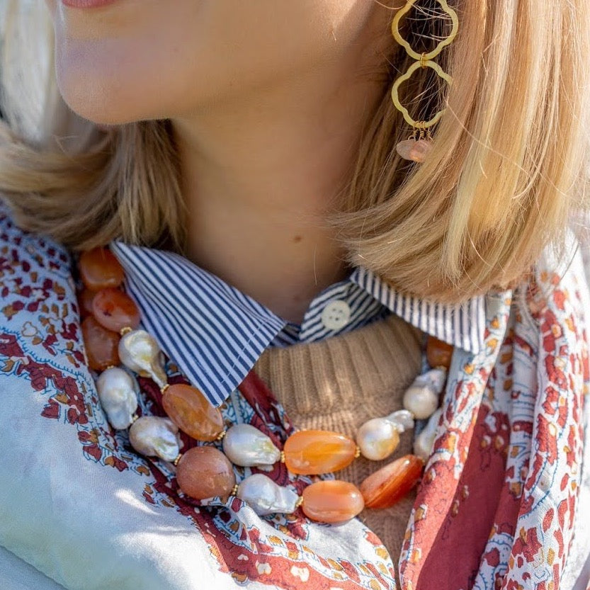 Abigail Necklace, Apricot