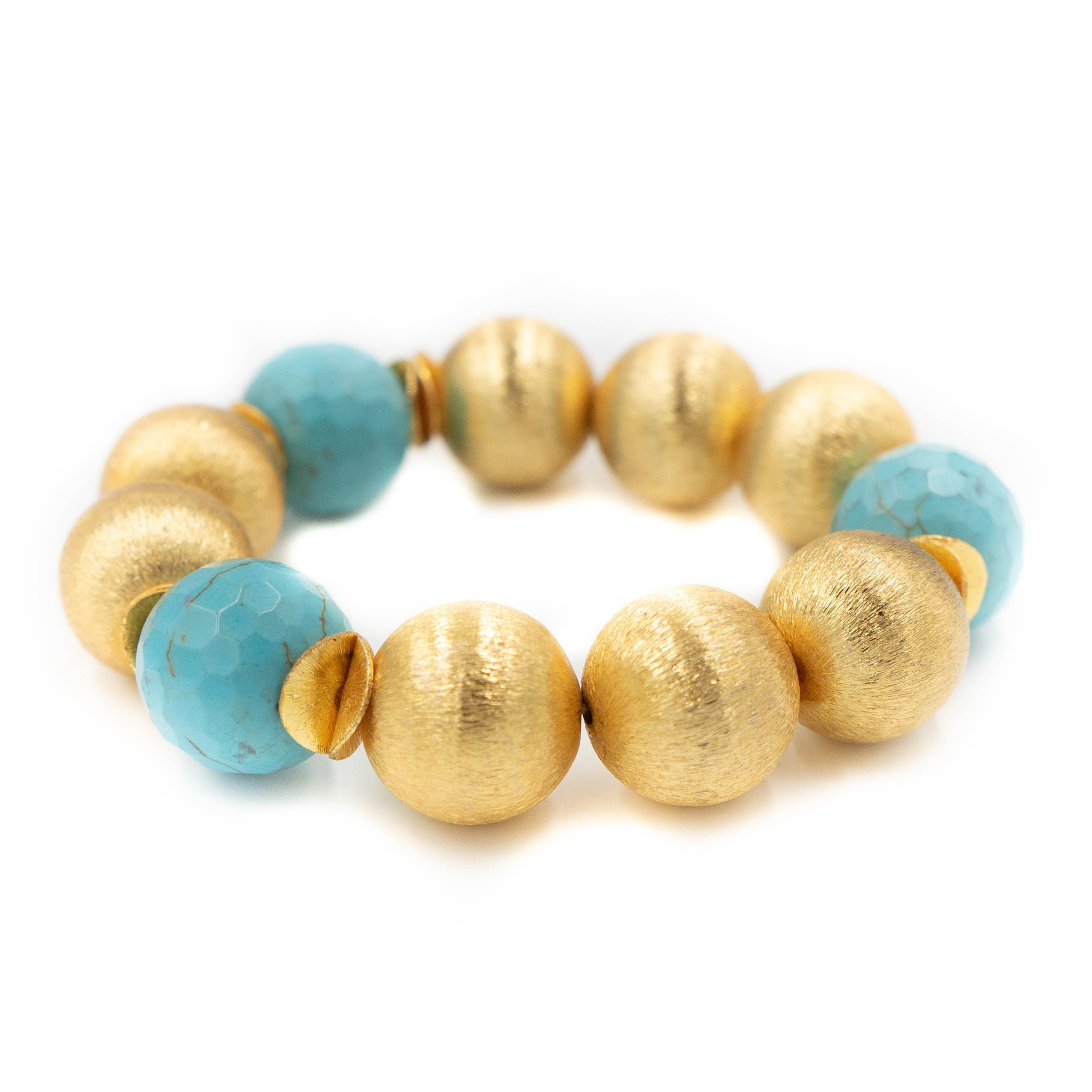 Madison Bracelet, Turquoise, Large