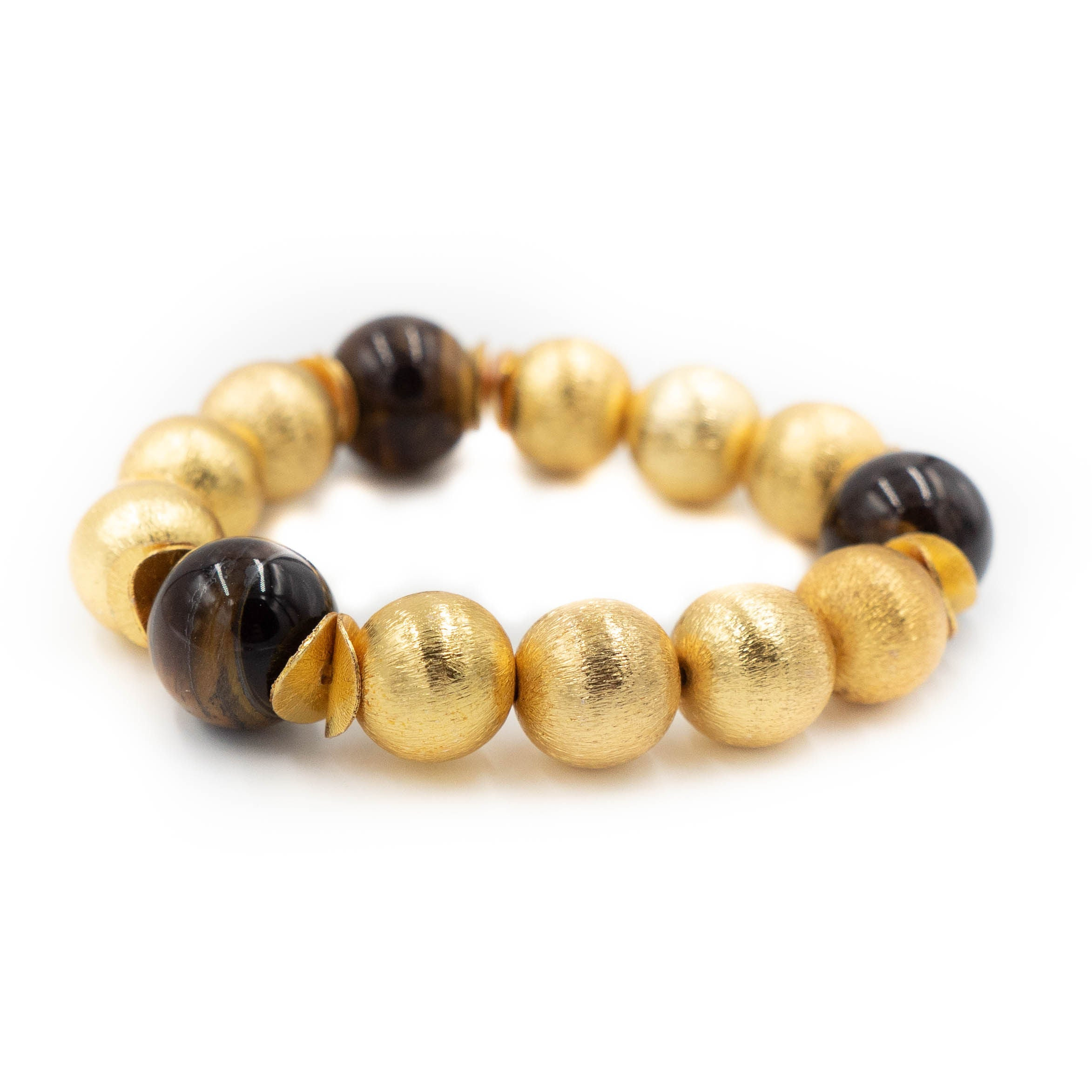 Madison Bracelet, Tigers Eye Smooth